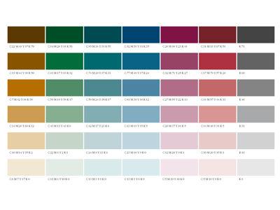 Farbgegenüberstellung CMYK / RAL