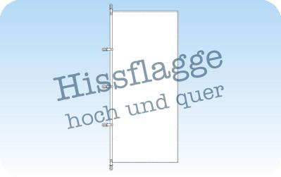 Hissflaggen im Quer- und Hochformat