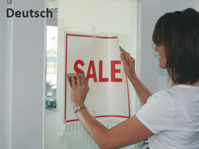 Verklebeanleitung in deutscher Sprache
