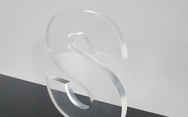 Einzelbuchstabe aus Acryl