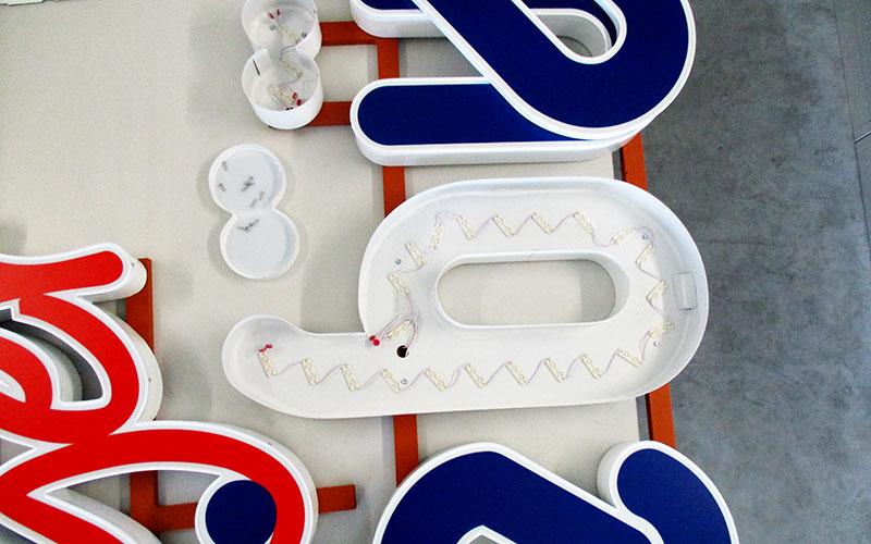 Profil 5 LED Einzelbuchstaben