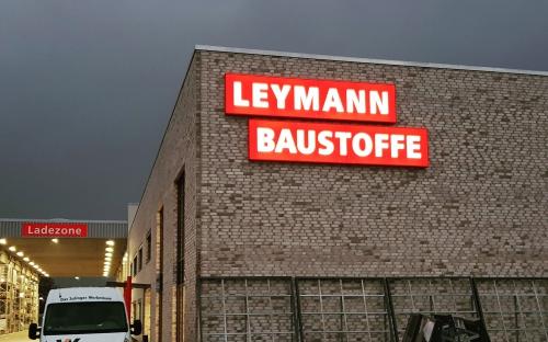 Leuchtkasten für Leymann Baustoffe