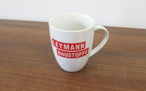 Leymann Baustoffe auf Porzellan